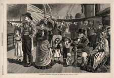 George Washington Jones Family  -  En Route to and Return From Paris   -  1878