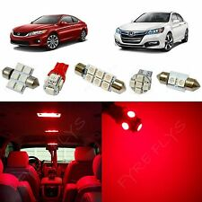 12x Red LED lights interior package kit for 2013-2017 Honda Accord HA2R