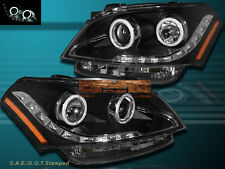 NEW Fits 10-11 Kia Soul Black CCFL Angel Eyes Halo Rim Projector LED Headlights