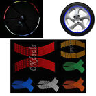 Multi-colour 16 Pcs Motorcycle Rim Stripe Wheel Reflective Tape Decal Stickers