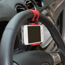 Car Steering Wheel Mobile Phone Holder Cradle Universal Mount PDA Phone upto 5""