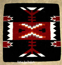 """Pillow Cover Southwest Western Home Decor 18x18"""" Black Wool / Acrylic #73"""