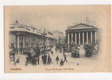 London Royal Exchange & Bank Vintage Postcard 477a