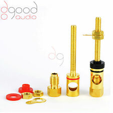 2 x Premium Quality Gold Plated Speaker Binding Posts Terminal 4 mm Connectors