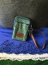 Handbag Fossil Keyper Green & Blue Multi Credit Card Phone Case Zip Wristlet