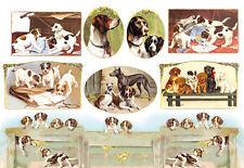 Papier de riz DFS064 Chien de chasse Animal Decoupage Rice Paper Hunting Dog