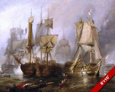 BATTLE OF TRAFALGAR LORD NELSON BRITISH NAVY VICTORY PAINTING ART CANVAS PRINT