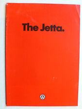 Prospekt Volkswagen VW Jetta 1 mit GLI, 1.1980, 24 Seiten, englisch