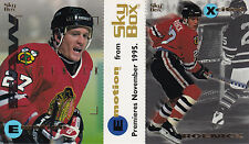 1995-96 Emotion - Jeremy Roenick - Black Hawks - Promo Panel - NrMt-Mt+