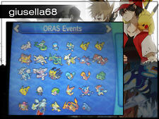 Pokemon X Y / ORAS / SUN MOON - ORAS EVENTS (look description for the list)
