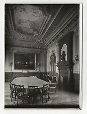 PHOTO Vintage 1910 SENS FRANCE YONNE Caisse d'Épargne Salle du conseil Direction