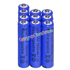 10x AAA battery batteries Bulk Nickel Hydride Rechargeable NI-MH 1800mAh 1.2V Bl