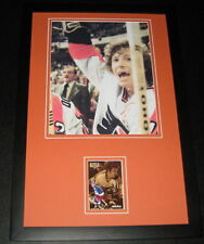 Bob Bobby Clarke TOOTHLESS Signed Framed 11x17 Photo Display Flyers