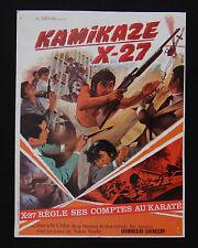 KAMIKAZE X 27 photo scenario film 1970 Karaté KUNG FU Shin'ichi CHIBA