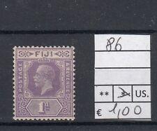 Fiji 1923-27 Giorgio V n. 86 linguellato