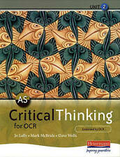 AS Critical Thinking for OCR Unit 2 by Pearson Education Limited KS5 A Level