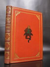 A CHRISTMAS CAROL Charles Dickens INLAID LEATHER FINE BINDING 1940 Vintage RARE