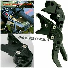 Black 6-Position Adjustable Brake Clutch Levers for ROYAL ENFIELD Bullet.