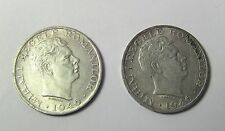 + Lot of 2 1946 Romania MIHAI I Silver 25000 LEI Leu Coins 25 Thousand 32mm