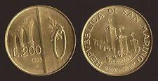 SAN MARINO 200 LIRE 1993 LE PORTE DI SAN MARINO Q.FDC/aUNC QUASI FIOR DI CONIO