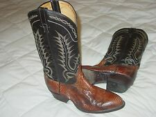 TONY LAMA BROWN PYTHON SNAKESKIN EXOTIC LEATHER MEN 9 EE BOOT WESTERN COWBOY