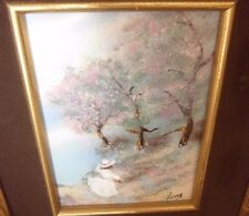 Jean Lucey - Pastel Forest - Enamel on Copper Painting - Includes COA