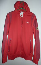 "PUMA FERRARI RED ZIP UP HOODED FLEECE JACKET ADULT LARGE CHEST 42-44""-BNWT"