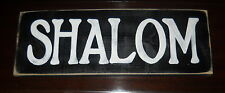 SHALOM Peace in The Home Jewish Sign PLAQUE Hebrew HP Rabbi Gift Bar Bat Mitzvah