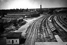 New 5x7 Civil War Photo: Roundhouse of the Chattanooga Railroad in Atlanta, 1864