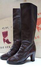 Damen Stiefel made italy 80er TRUE VINTAGE 80´s Boots stivali block heel braun