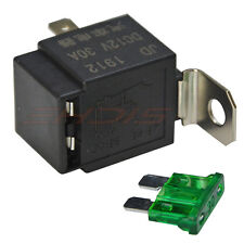 Automotive 30 Amp Relay with Fuse On/Off 12V Relays (4 Pin) SPST Flasher Relays