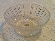 New! Toscany Clear 24% Lead Crystal Bowl - Handcrafted in Yugoslavia - Mint
