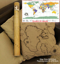 Retro Scratch off World Map Poster Vacation Log Journey For Travel Guidance New