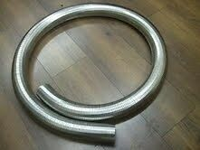 "64mm 2 1/2"" Flexible Polylock Stainless Steel Flexi Tube 2 Metre Exhaust 2.5"""