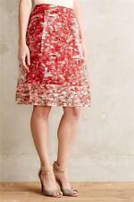 New Anthropologie Catharina Skirt Sz 2 Size XS NIP by Wolven Red