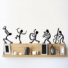 Asmi Collections Pvc Wall Sticker Wall Decals Happy Band-100(W) X 30(H) CM