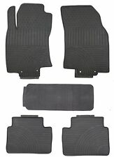 Black Rubber All Weather Floor Mats for 2013 Up Nissan Rogue Custom Fitment