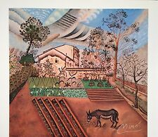JOAN MIRO HAND SIGNED SIGNATURE * KITCHEN GARDEN WITH DONKEY * LITHOGRAPH W/ COA