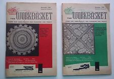 The Workbasket Magazine Lot of 2 Issues November & December 1956 Crafts Recipes