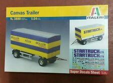 ITALERI 1/24 Canvas Trailer with decals for 2 versions - plastic model kit 3880