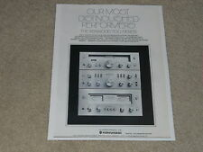 Kenwood 700M, 700T, 700C Amp, Preamp, Tuner Ad, 1 page, 1975, Article