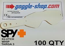 100 qty GOGGLE-SHOP MOTOCROSS TEAR OFFS to fit SPY KLUTCH WHIP TARGA 3 GOGGLES