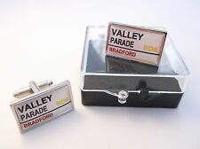 BRADFORD CITY STADIUM BADGE STREET SIGN MENS CUFFLINKS GIFT