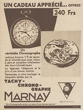 Z8355 Chronographe MARNAY - Pubblicità d'epoca - 1933 Old advertising