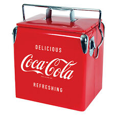 Coca-Cola Vintage Red Stainless Steel 13L Ice Chest
