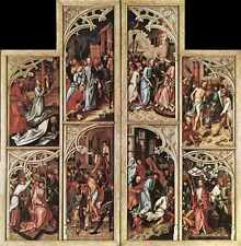 Metal Sign Holbein Hans The Elder Wings Of The Kaisheim Altarpiece A4 12x8 Alumi