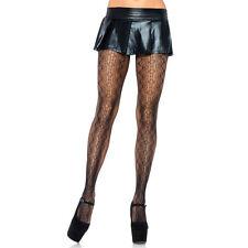 Leg Avenue 9966 O/S Vintage Scalloped Edge Lace Reversible Women's Pantyhose