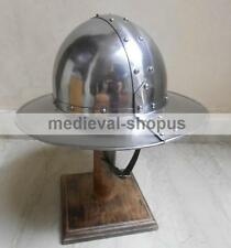 Medieval Kettle Hat helmet reenactment larp Armour Spanish infantry helmets