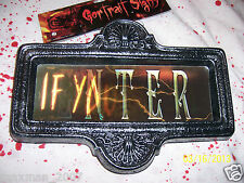 Enter if you Dare Halloween Changing Lenticular Sign Prop Scary NWT