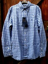 Ralph Lauren Men's Blue Plaid Shirt, L Size. Brand New. 100% Cotton Regular Fit